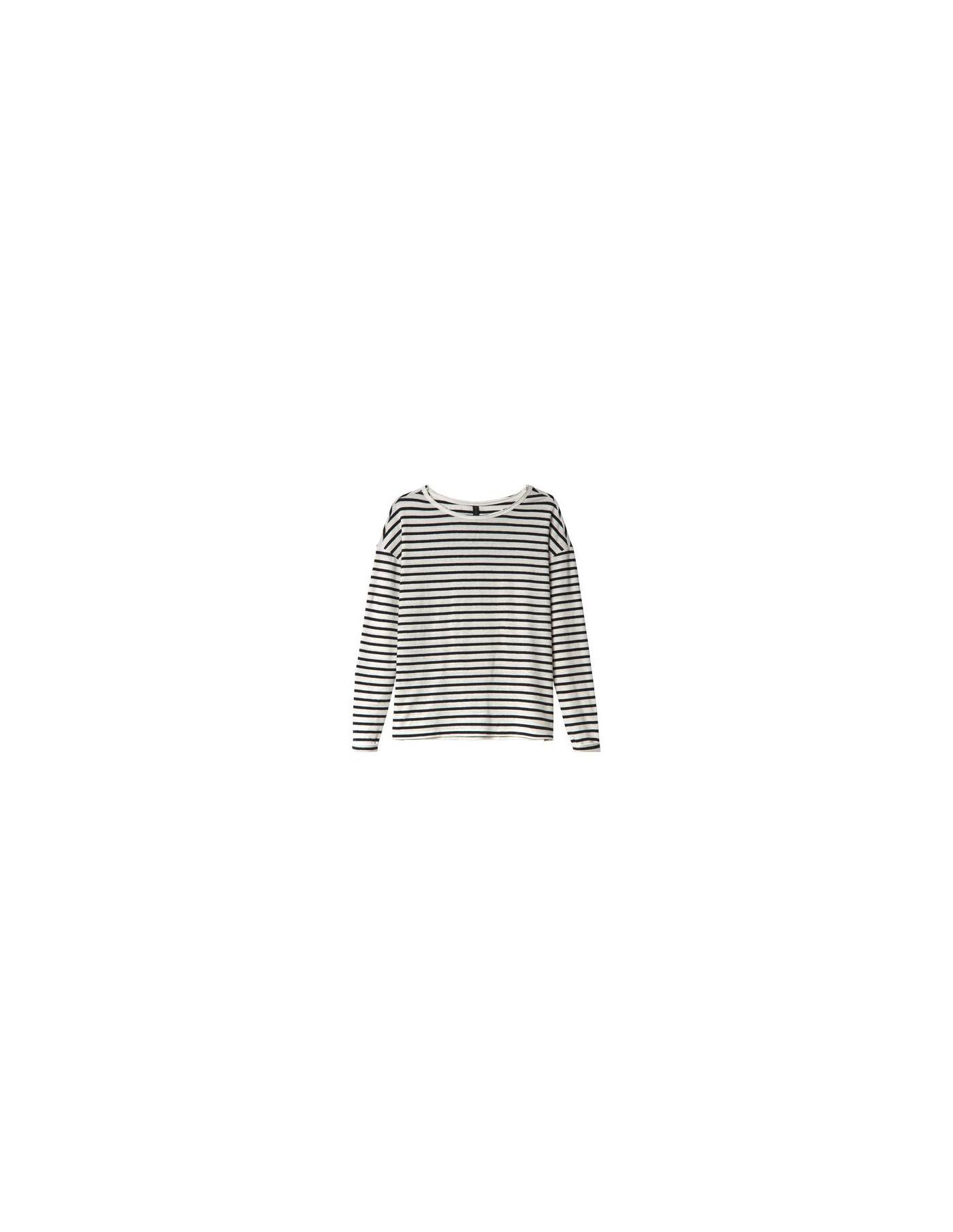 10DAYS Longsleeve Tee Linen Stripes