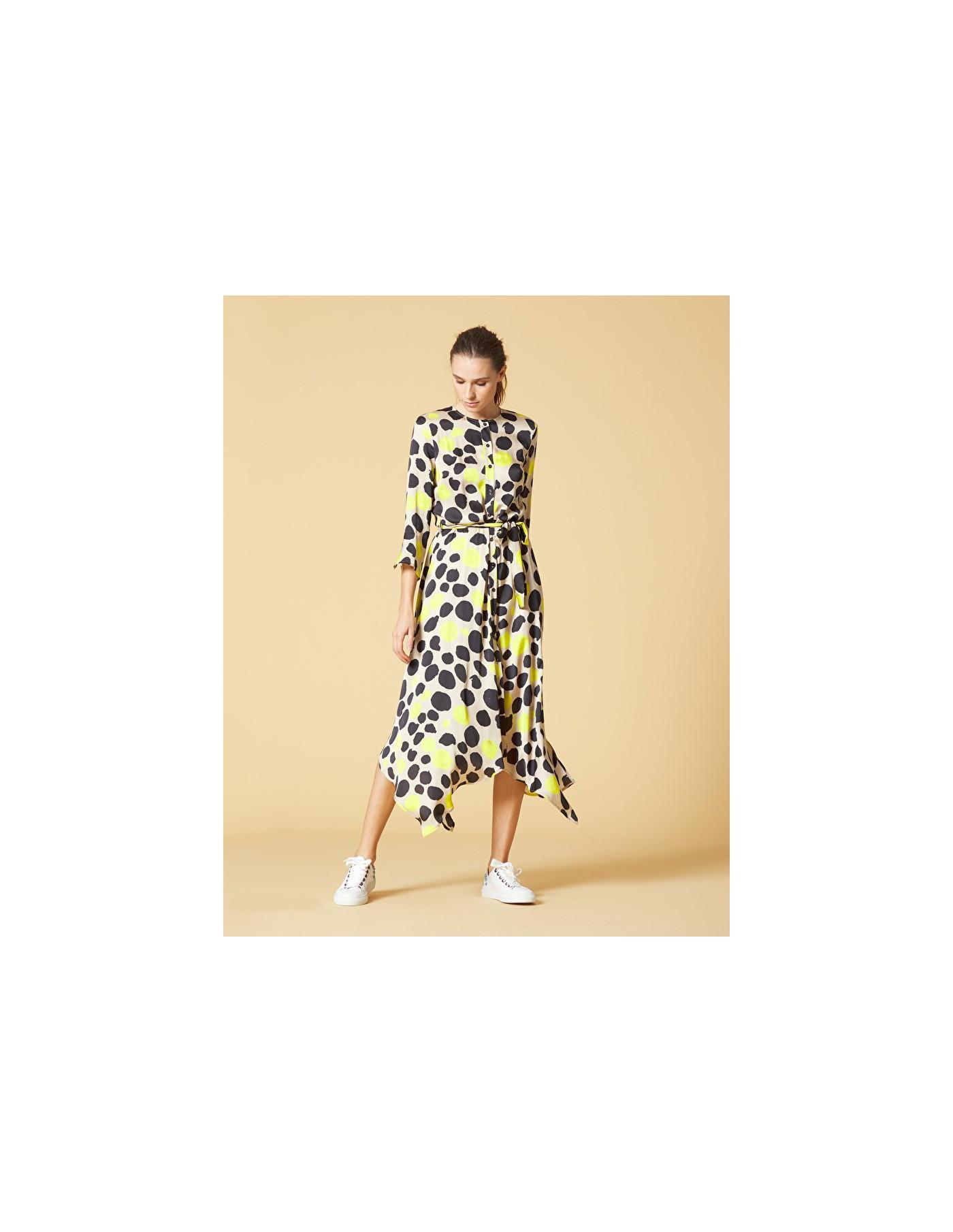 MANILA GRACE Asymmetrical Dress