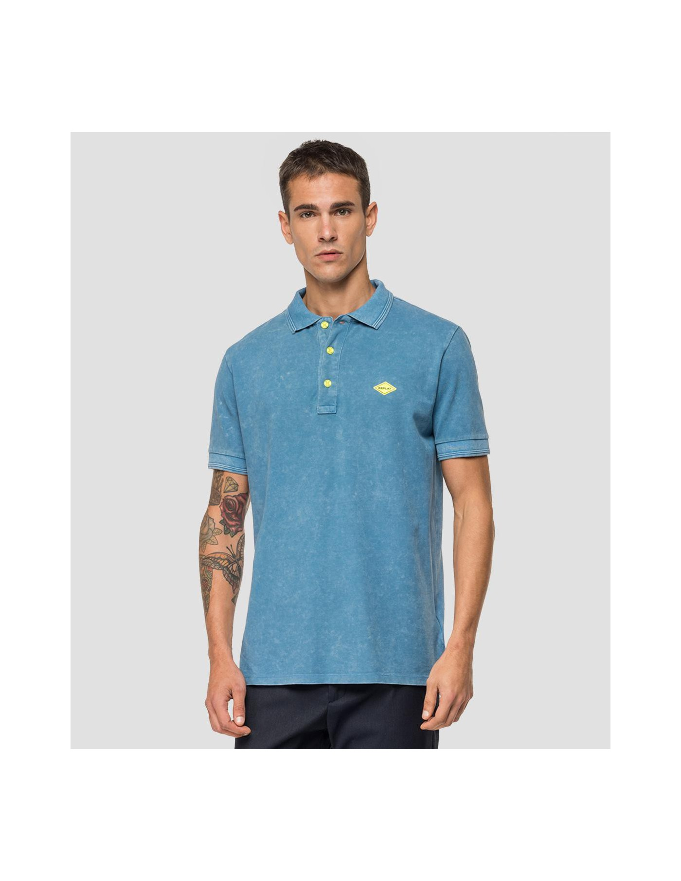 REPLAY Washed Polo Shirt